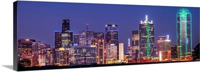 Bright Dallas Skyline