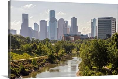 Buffalo Bayou Park - Houston TX Skyline