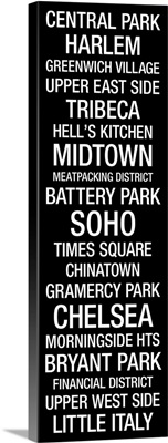 Bus Roll: New York City Neighborhoods