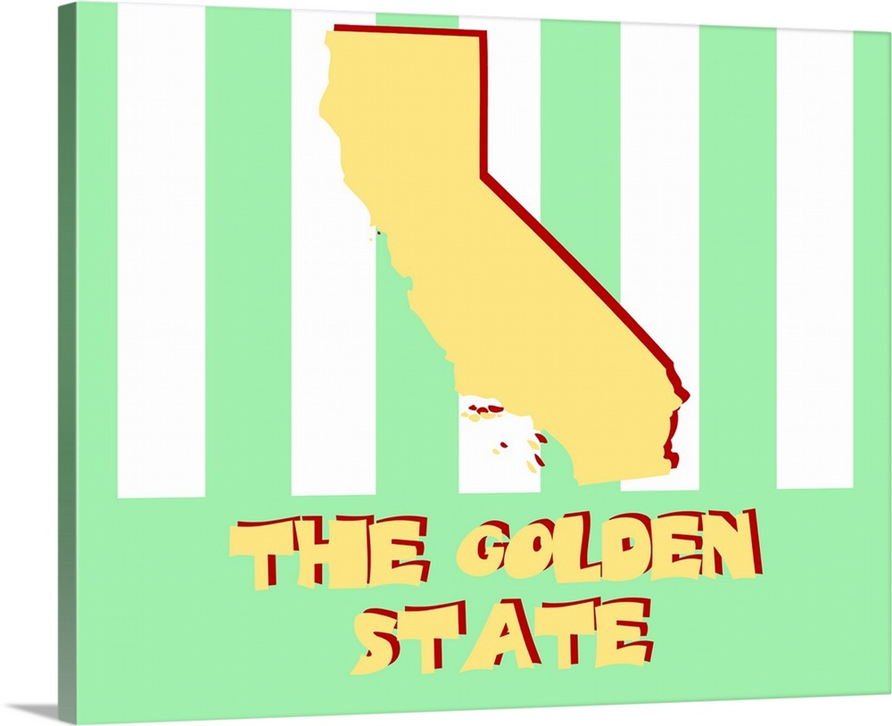 California - State Nickname Wall Art, Canvas Prints, Framed Prints ...