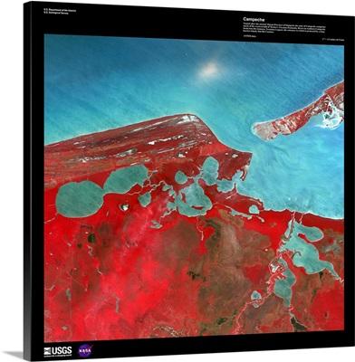 Campeche - USGS Earth as Art