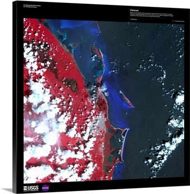 Cancun - USGS Earth as Art