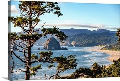 Cannon Beach Landscape, Haystack Rock, Oregon