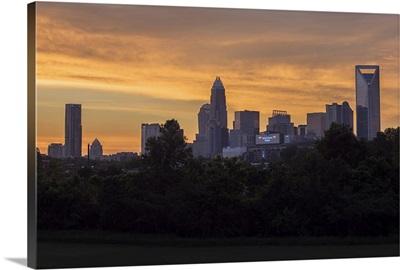 Charlotte Skyline And A Honey-Colored Sunrise