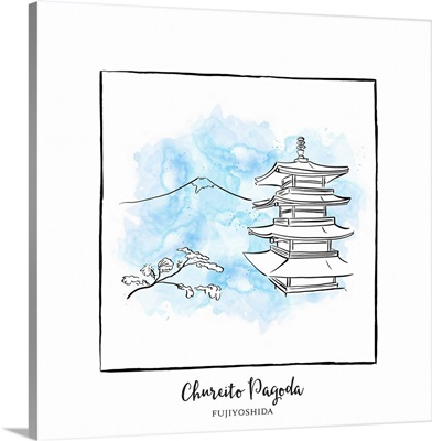 Chureito Pagoda - Brushstroke Buildings
