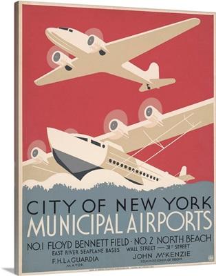 City of New York Municipal Airports - WPA Poster