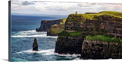 Cliffs of Moher, O'Brien's Tower, Ireland - Panoramic