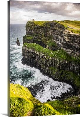 Cliffs of Moher, O'Brien's Tower, Ireland - Vertical