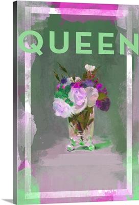 Color Splash Floral - Queen (green)