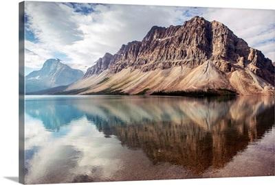 Crowfoot Mountain Reflected in Bow Lake, Banff National Park, Alberta, Canada