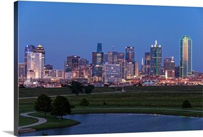 Dallas Skyline At Night, Texas
