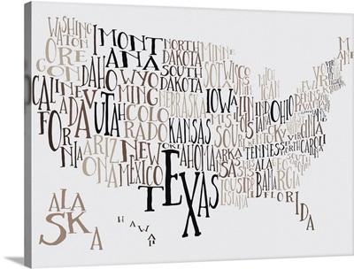 Dead Seasons US Typography Map