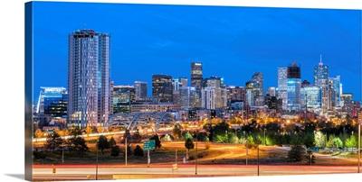 Denver, CO Skyline at Night
