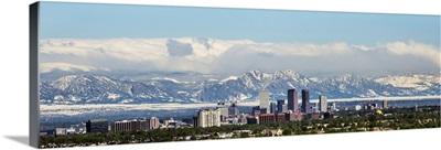 Denver Skyline with Rocky Mountains