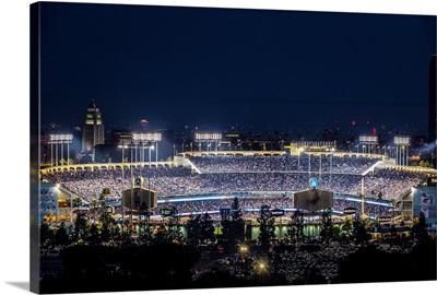 Dodger Stadium, Los Angeles, California, at Night