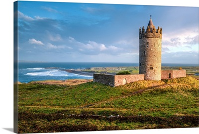 Doonagore Castle at Sunset, Droolin, Ireland