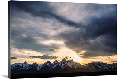Dramatic Clouds Over Teton Range, Grand Teton National Park, Wyoming