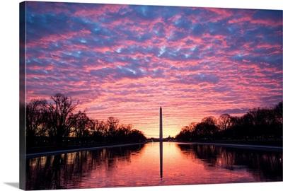 Dramatic Sunset over the Washington Monument, Washington, DC