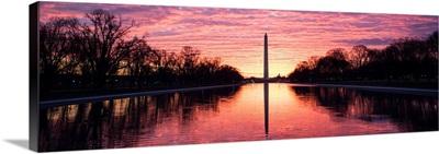 Dramatic Sunset over the Washington Monument, Washington DC