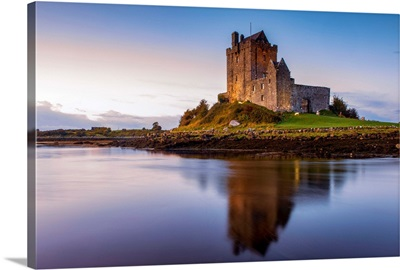 Dunguaire Castle Reflecting Into Galway Bay, County Galway, Ireland