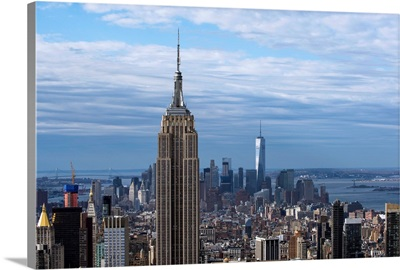 Empire State Building and One World Trade Center, New York City