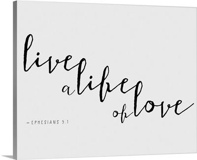 Ephesians 4:2-3 - Scripture Art in Black and White