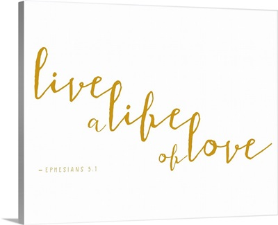 Ephesians 4:2-3 - Scripture Art in Gold and White