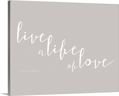 Ephesians 4:2-3 - Scripture Art in White and Grey
