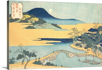 Evening Moon at Izumizaki, from the series Eight Views of the Ryukyu Islands