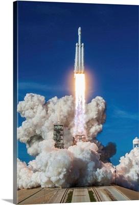 Falcon Heavy Demo Mission Liftoff, Kennedy Space Center, Florida