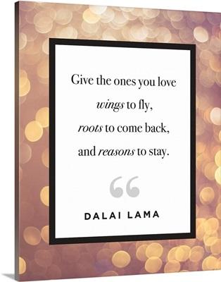 Family Quotes - Dalai Lama Lights