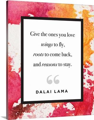 Family Quotes - Dalai Lama Watercolor