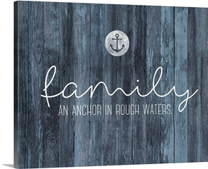 Family Quotes Family Anchor Wall Art Canvas Prints Framed Prints