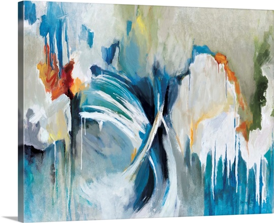 Free flow wall art by circle art group free flow canvas
