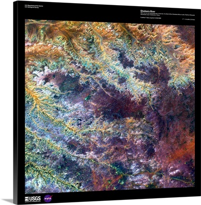 Ghadamis River - USGS Earth as Art
