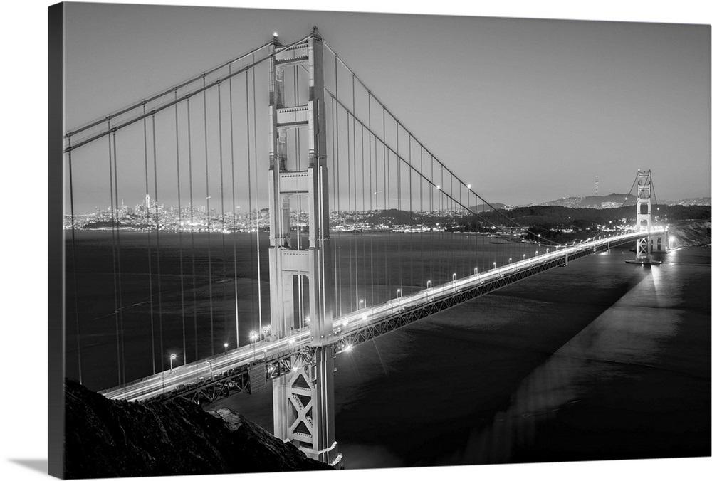 Golden Gate Bridge At Twilight San Francisco