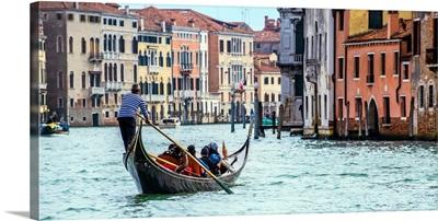 Gondola Ride on the Grand Canal, Venice, Italy, Europe