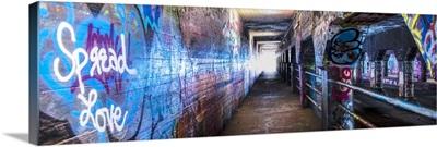 Graffiti-filled walls of the Krog Street Tunnel in Atlanta, Georgia