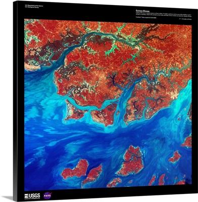 Guinea-Bissau - USGS Earth as Art