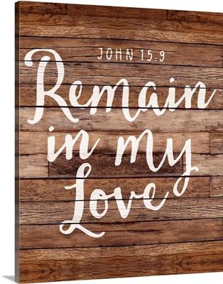 Handlettered Bible Verse - John 15:9