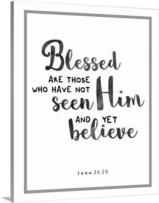 Handlettered Bible Verse - John 20:29