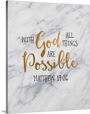 Handlettered Bible Verse - Matthew 19:26