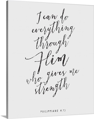 Handlettered Bible Verse - Philippians 4:13