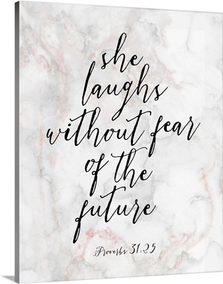 Handlettered Bible Verse - Proverbs 31:25