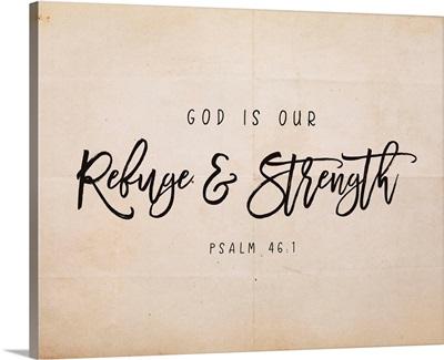 Handlettered Bible Verse - Psalm 46:1
