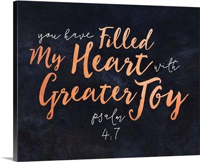 Handlettered Bible Verse - Psalm 4:7