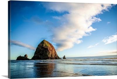 Haystack Rock at Golden Hour, Cannon Beach, Oregon