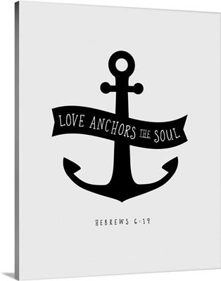 Hebrews 6:19 - Scripture Art in Black and White