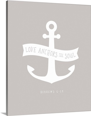 Hebrews 6:19 - Scripture Art in White and Grey