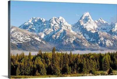 High Peaks Of Teton Range In Grand Teton National Park, Wyoming